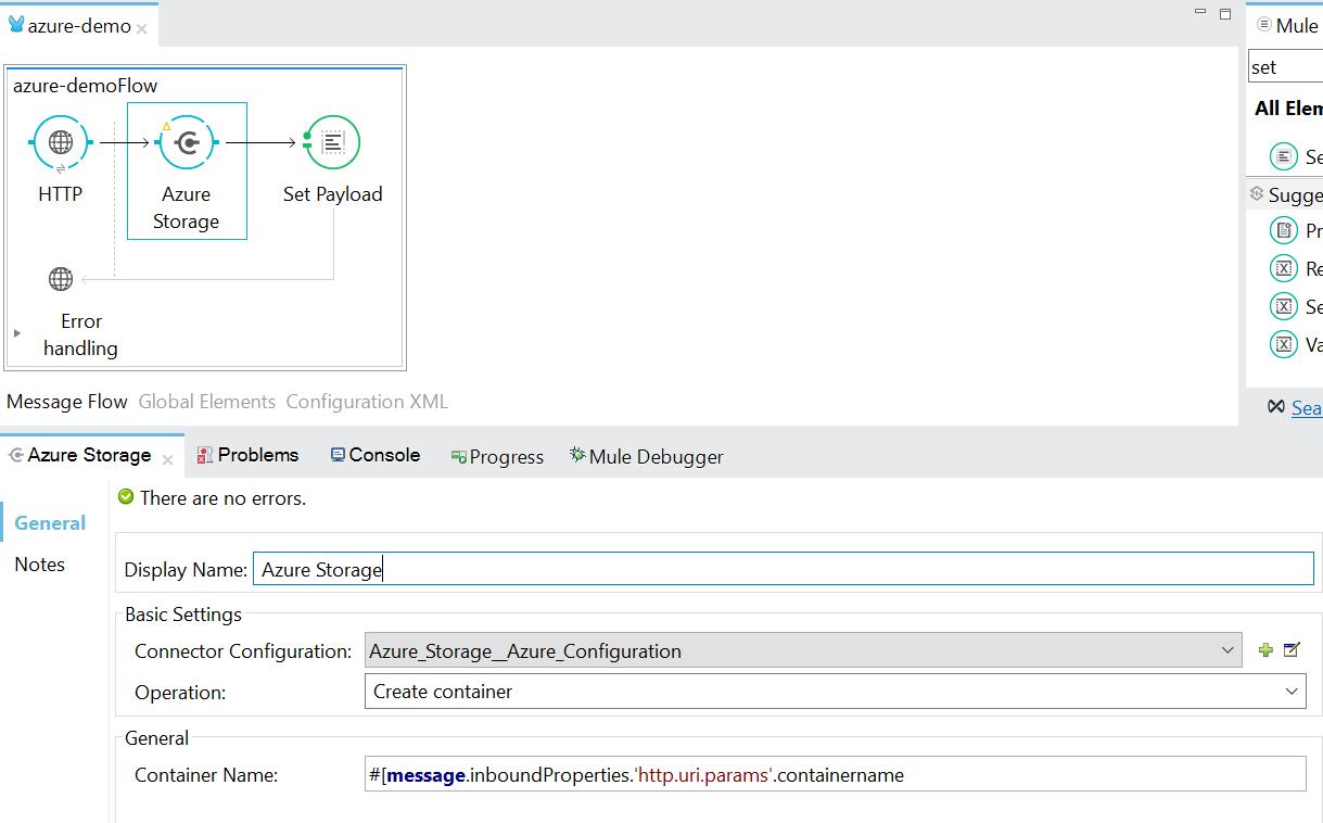 Create Container in Azure