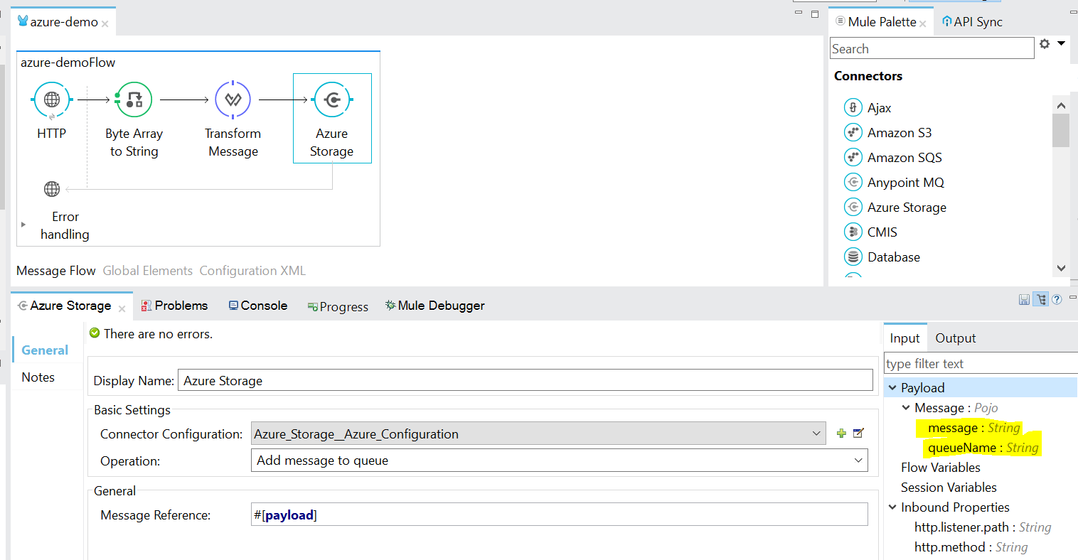 Add message to Azure Queue