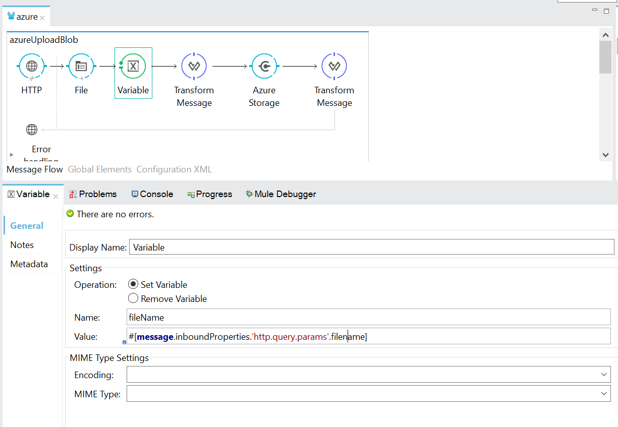 Upload BLOB to Azure Container