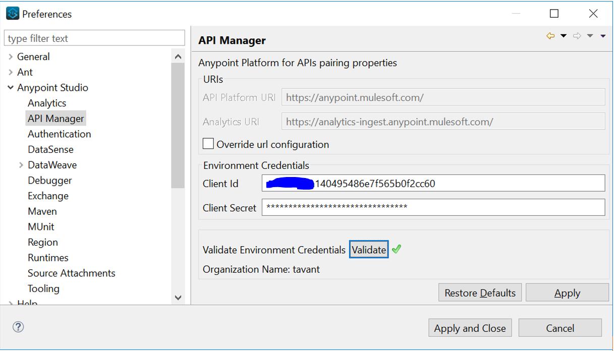 API Manager - Auto-Discovery