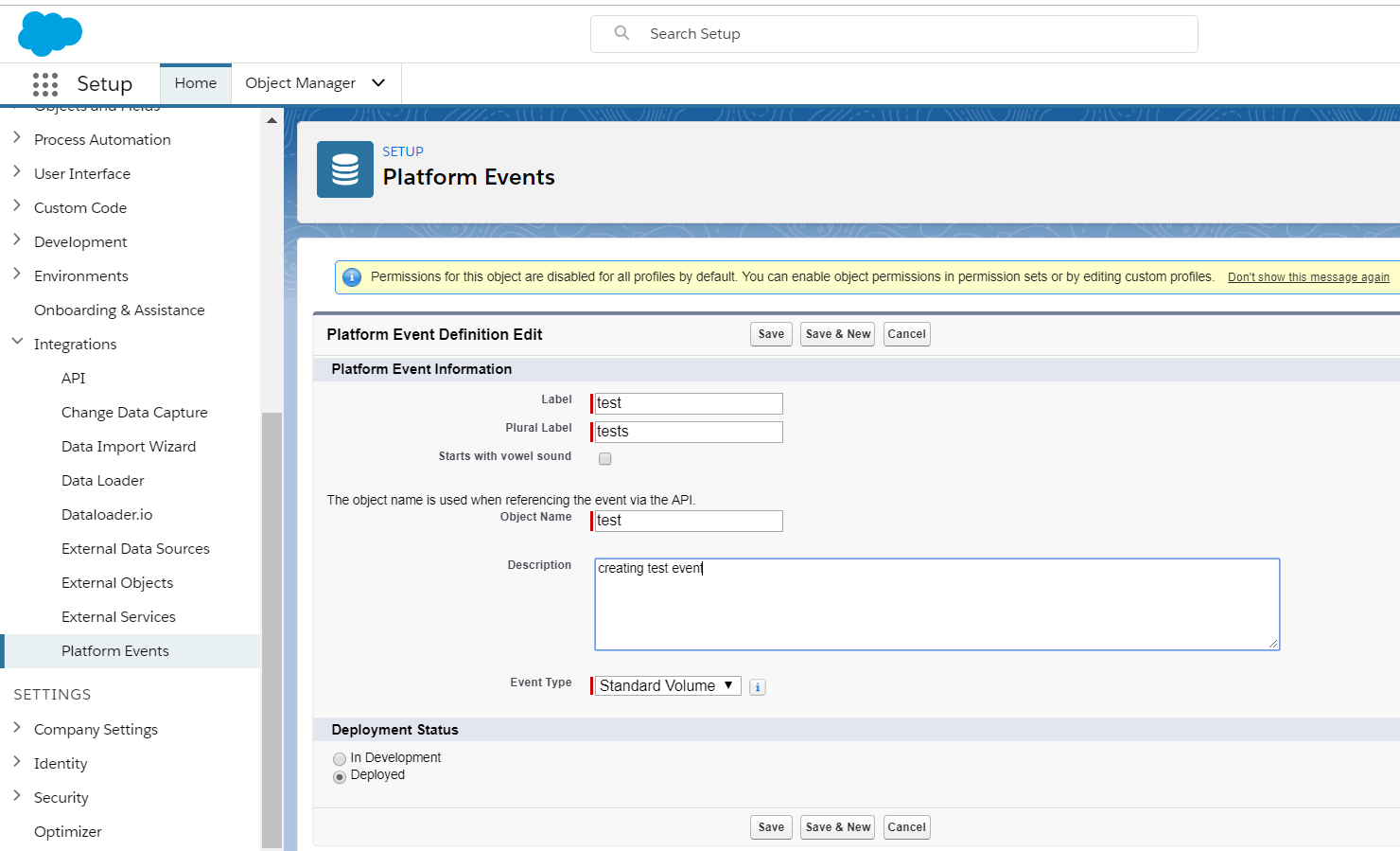 Publish and Consume Salesforce Event