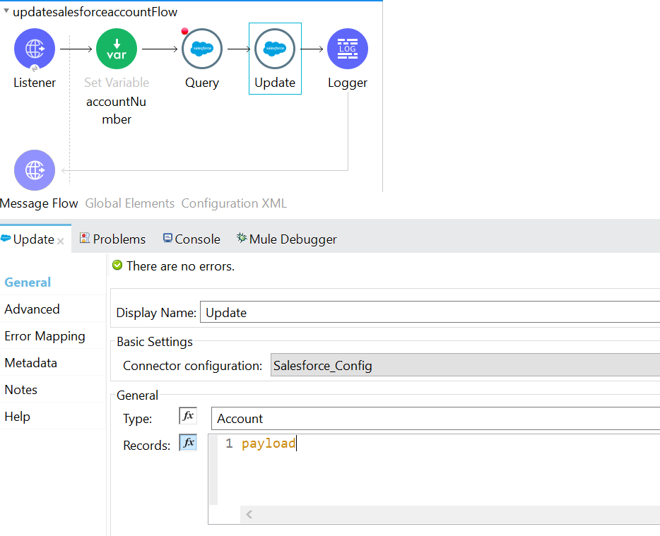 update the records in salesforce