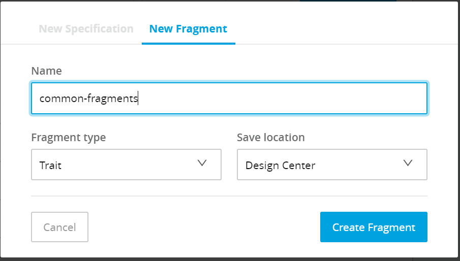 Create Fragments In RAML