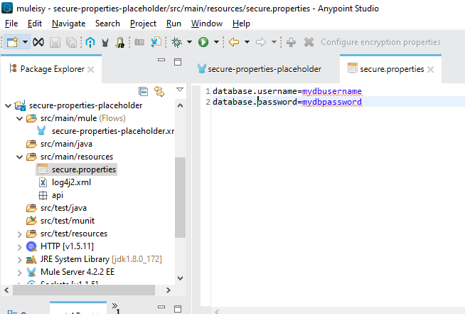 Secure Properties Placeholder