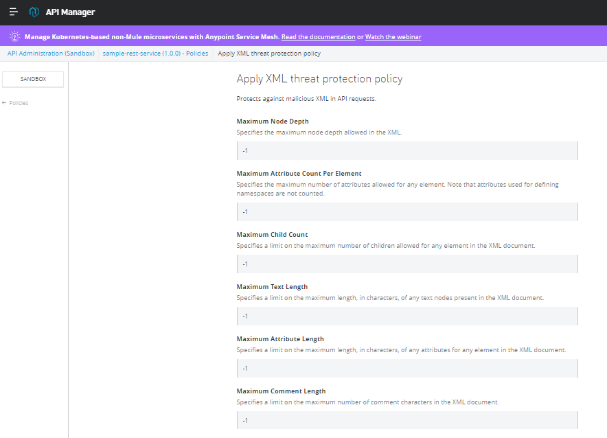 XML Threat Protection