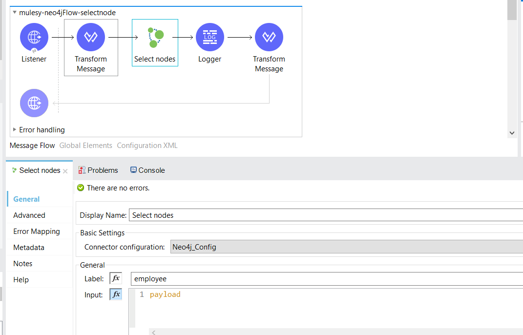 Neo4j connector in MuleSoft 4.x