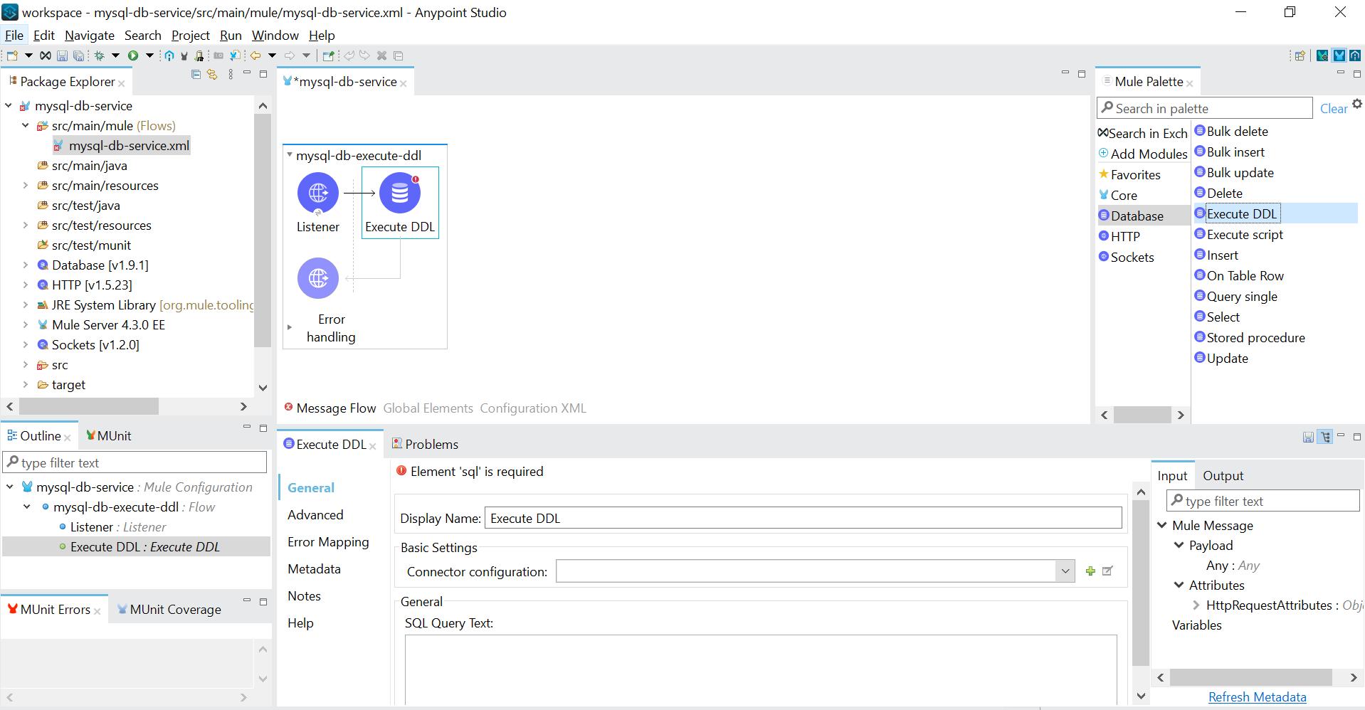 Connect with MySQL DB through MuleSoft